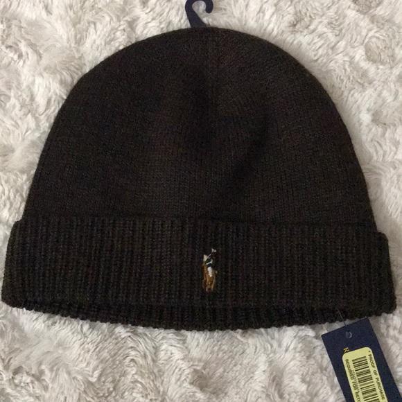 6a0b3587572 Polo Ralph Lauren Merino Wool Knit Hat OS